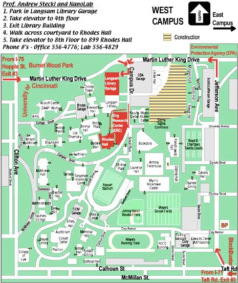 Uc Clermont Campus Map.Nanoelectronics Laboratory